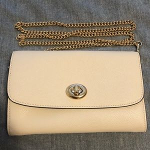 Coach Turnlock Wallet on Chain White